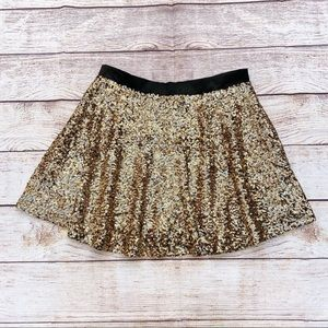Missguided Gold Sequin Mini Skirt size 10